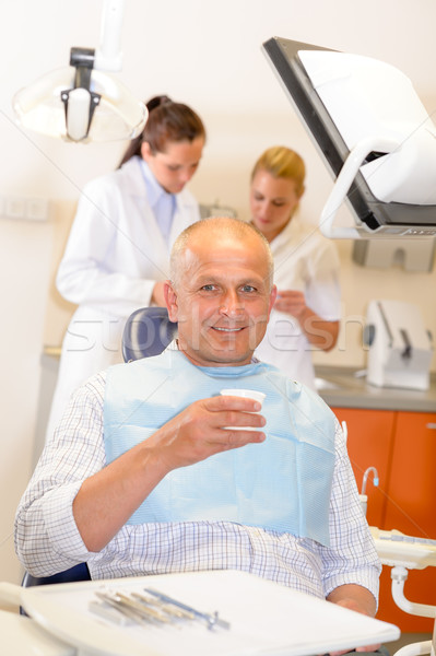 Mature man at dental office surgery Stock photo © CandyboxPhoto