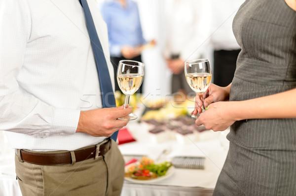 Business di successo cooperazione toast società partner Foto d'archivio © CandyboxPhoto