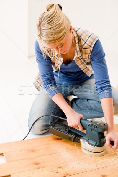 Amélioration de l'habitat atelier bois maison intérieur Photo stock © CandyboxPhoto
