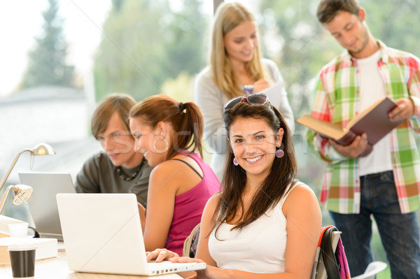 Teens studying in high-school library young pupils Stock photo © CandyboxPhoto