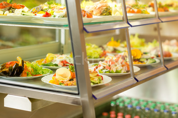 Cafeteria self service display food fresh salad Stock photo © CandyboxPhoto