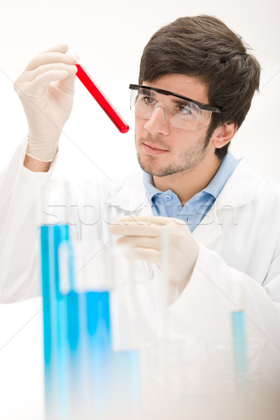 Flu virus experiment -  scientist in laboratory Stock photo © CandyboxPhoto