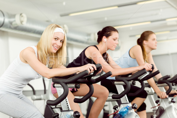 Stock foto: Fitness · Fitnessstudio · Fahrrad · Cardio