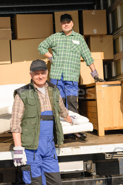 Mover two man loading furniture and boxes Stock photo © CandyboxPhoto