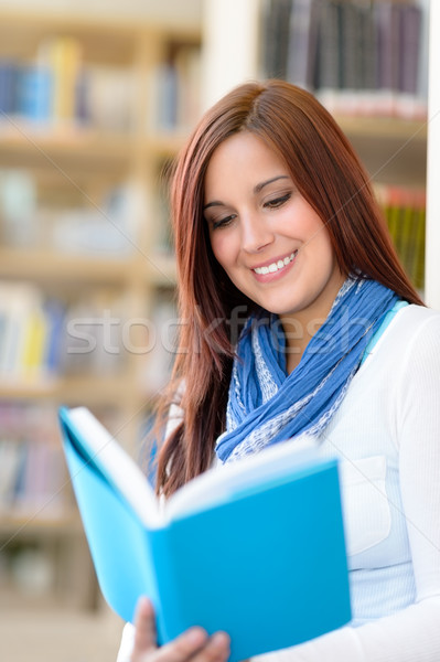 Student at library read book high school  Stock photo © CandyboxPhoto