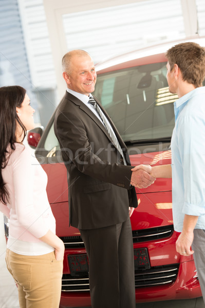 Couple buying a car in dealership Stock photo © CandyboxPhoto