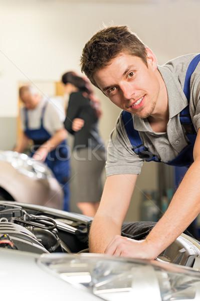Portrait of mechanic repairing car Stock photo © CandyboxPhoto