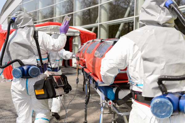 HAZMAT team walking towards chamber Stock photo © CandyboxPhoto