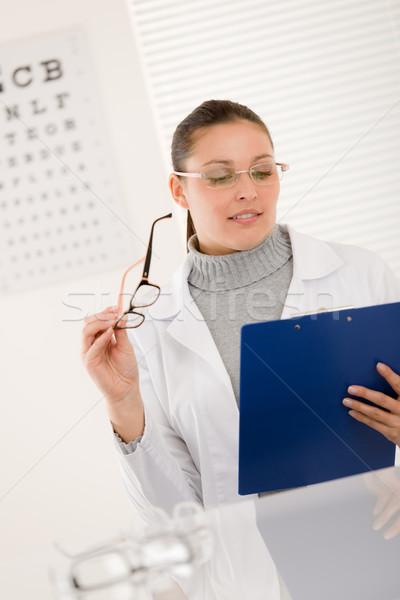 оптик врач женщину очки глаза диаграммы Сток-фото © CandyboxPhoto