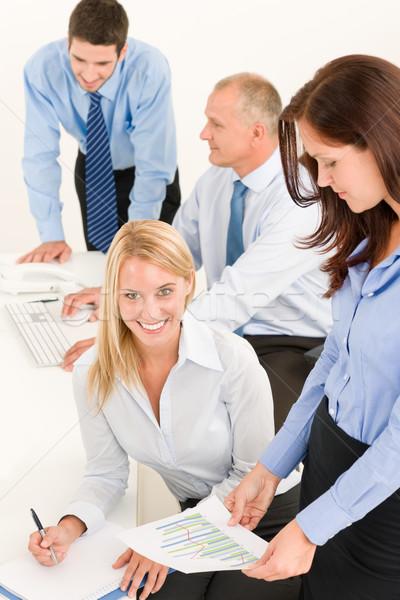 Business team mooie onderneemsters collega's aantrekkelijk gelukkig Stockfoto © CandyboxPhoto