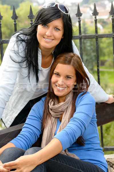 Mother and daughter in the park smiling Stock photo © CandyboxPhoto