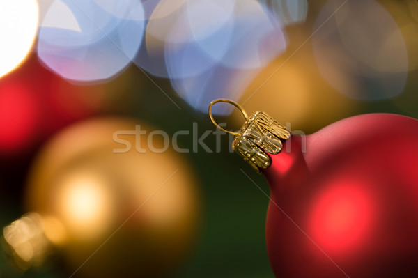 Christmas red and gold balls close-up Stock photo © CandyboxPhoto