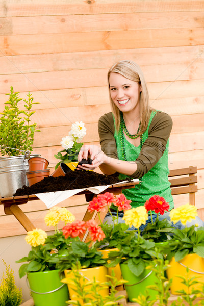 Gardening woman planting spring flower Stock photo © CandyboxPhoto