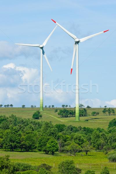 グリーンエネルギー 風車 生態学 青空 ビジネス ストックフォト © CandyboxPhoto