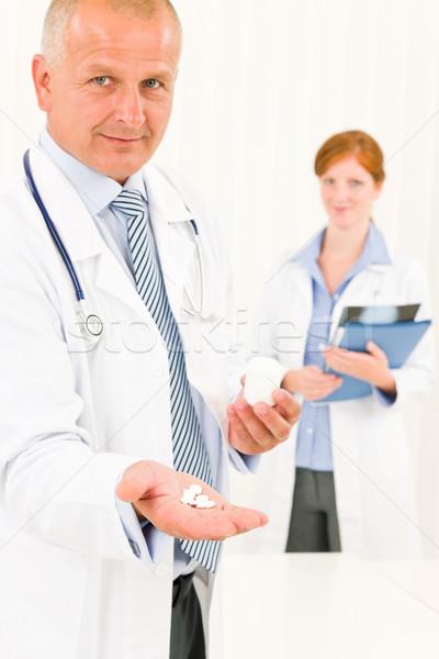Сток-фото: медицинской · врач · команда · старший · мужчины
