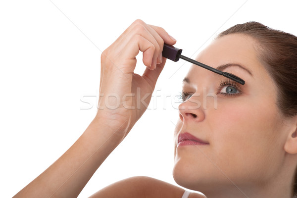 Body care series - Young brown hair woman applying mascara Stock photo © CandyboxPhoto