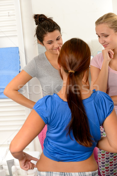Typical teenager girls weight problems Stock photo © CandyboxPhoto