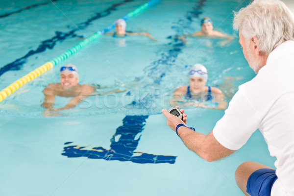 Swimming pool - swimmer training competition Stock photo © CandyboxPhoto
