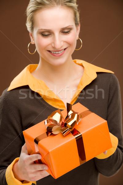 настоящее женщину празднования счастливым молодые Сток-фото © CandyboxPhoto