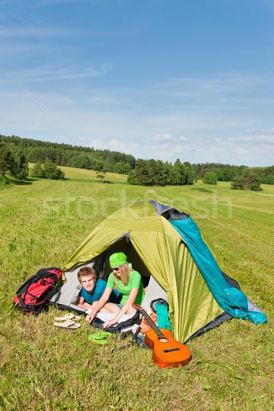 キャンプ カップル テント 夏 ストックフォト © CandyboxPhoto