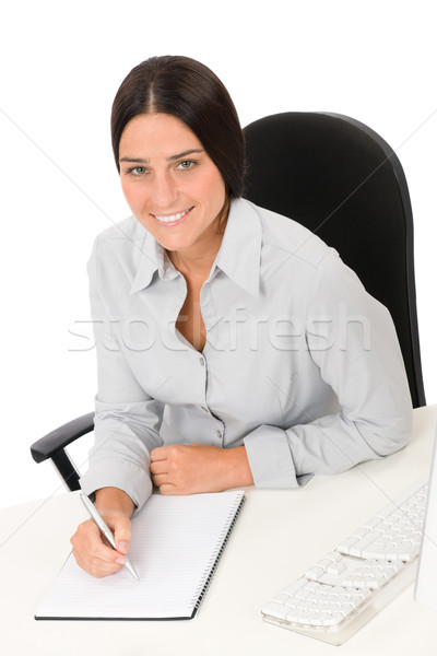 Successful business woman at office with notepad Stock photo © CandyboxPhoto