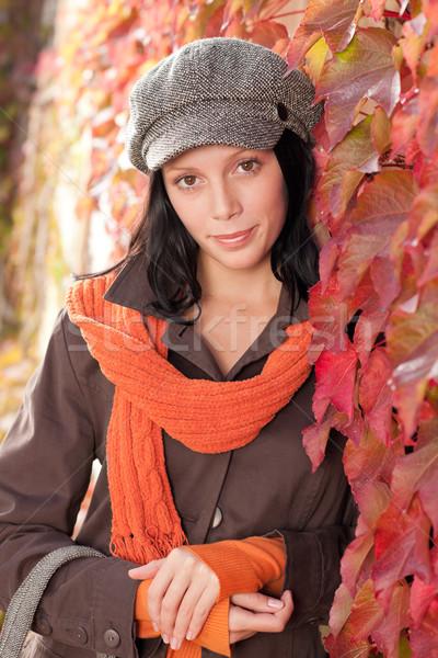 紅葉 肖像 美しい 女性 モデル ポーズ ストックフォト © CandyboxPhoto