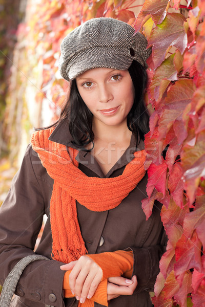 Autumn leaves portrait of beautiful female model  Stock photo © CandyboxPhoto