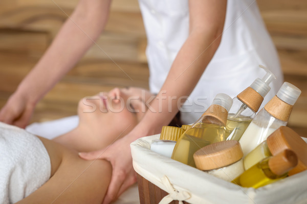 Beauty spa products in massage room Stock photo © CandyboxPhoto