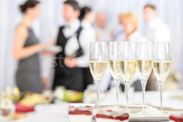 Aperitif champagne for meeting participants Stock photo © CandyboxPhoto