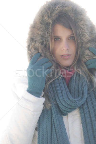 Winter fashion - woman on foggy day  Stock photo © CandyboxPhoto