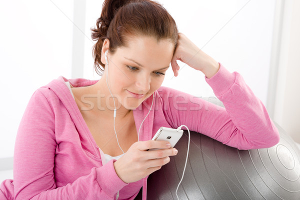 Fitness woman listen music mp3 relax Stock photo © CandyboxPhoto