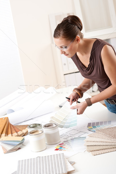 Young female designer working with color swatches Stock photo © CandyboxPhoto