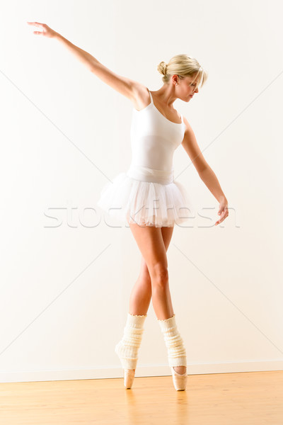Beautiful ballet dancer practicing dance posture Stock photo © CandyboxPhoto