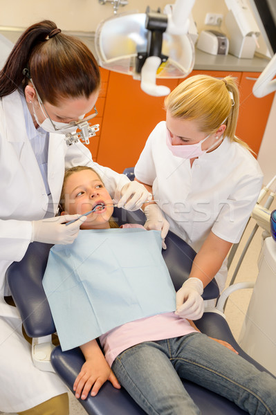 Child dental checkup at stomatology clinic Stock photo © CandyboxPhoto