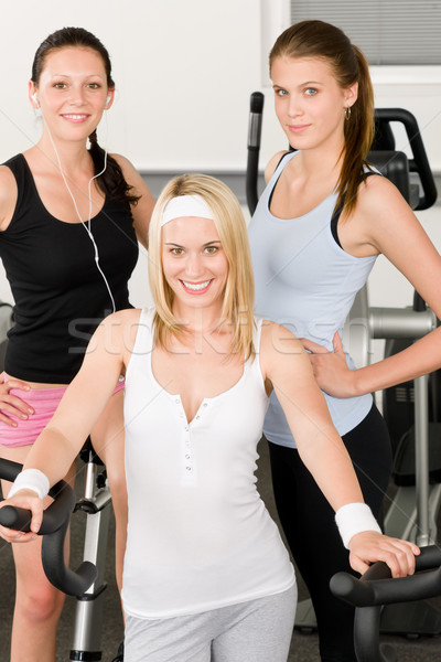Fitness young girls at gym posing Stock photo © CandyboxPhoto