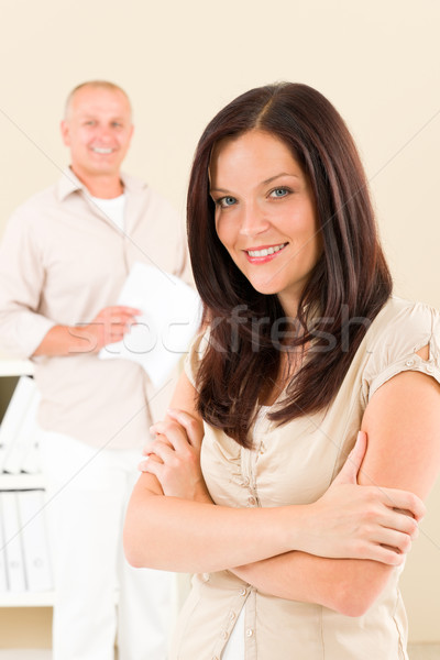 Casual businesswoman smiling crossed arms Stock photo © CandyboxPhoto