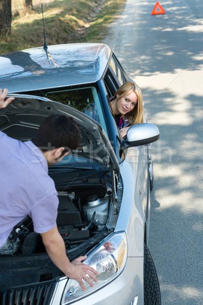 Autó pár törött jármű út nő Stock fotó © CandyboxPhoto
