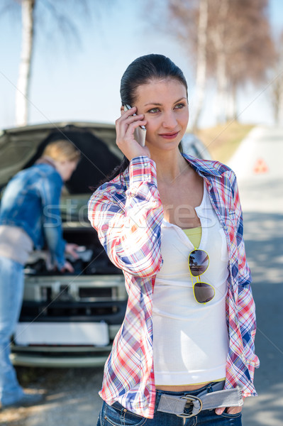 Car problem woman call road help Stock photo © CandyboxPhoto