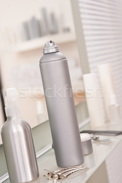 Professional hairdresser studio with hairspray and hair clip Stock photo © CandyboxPhoto