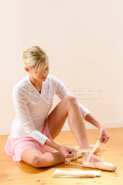 Ballerina getting dressed for ballet performance Stock photo © CandyboxPhoto