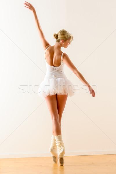 Bella ballerino di danza classica dancing studio donna ballerina Foto d'archivio © CandyboxPhoto