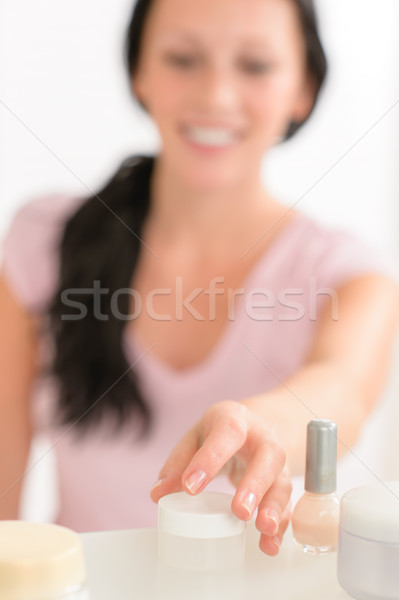 Beauty nail care product close-up woman hand Stock photo © CandyboxPhoto