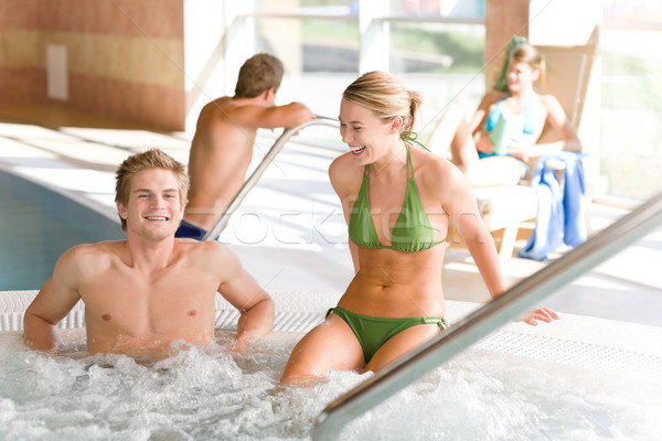 Swimming pool - couple relax in hot tub Stock photo © CandyboxPhoto