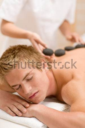 Lastone therapy - Massage at spa Stock photo © CandyboxPhoto