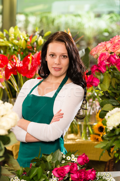 Young woman florist flower shop owner business Stock photo © CandyboxPhoto