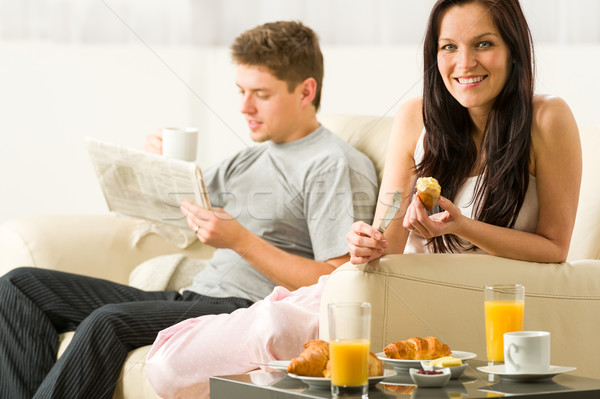 Young couple spending morning time together Stock photo © CandyboxPhoto