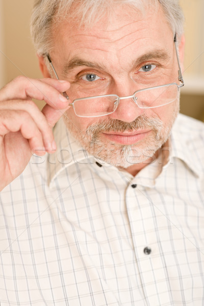 Senior mature man thoughtful with glasses  Stock photo © CandyboxPhoto
