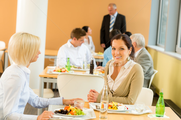 Cafétéria déjeuner jeunes affaires femmes manger Photo stock © CandyboxPhoto