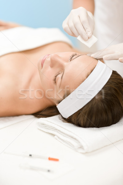 Botox injection - Woman in cosmetic medicine treatment  Stock photo © CandyboxPhoto