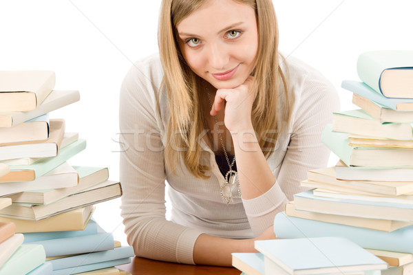 Student teenager woman with books Stock photo © CandyboxPhoto